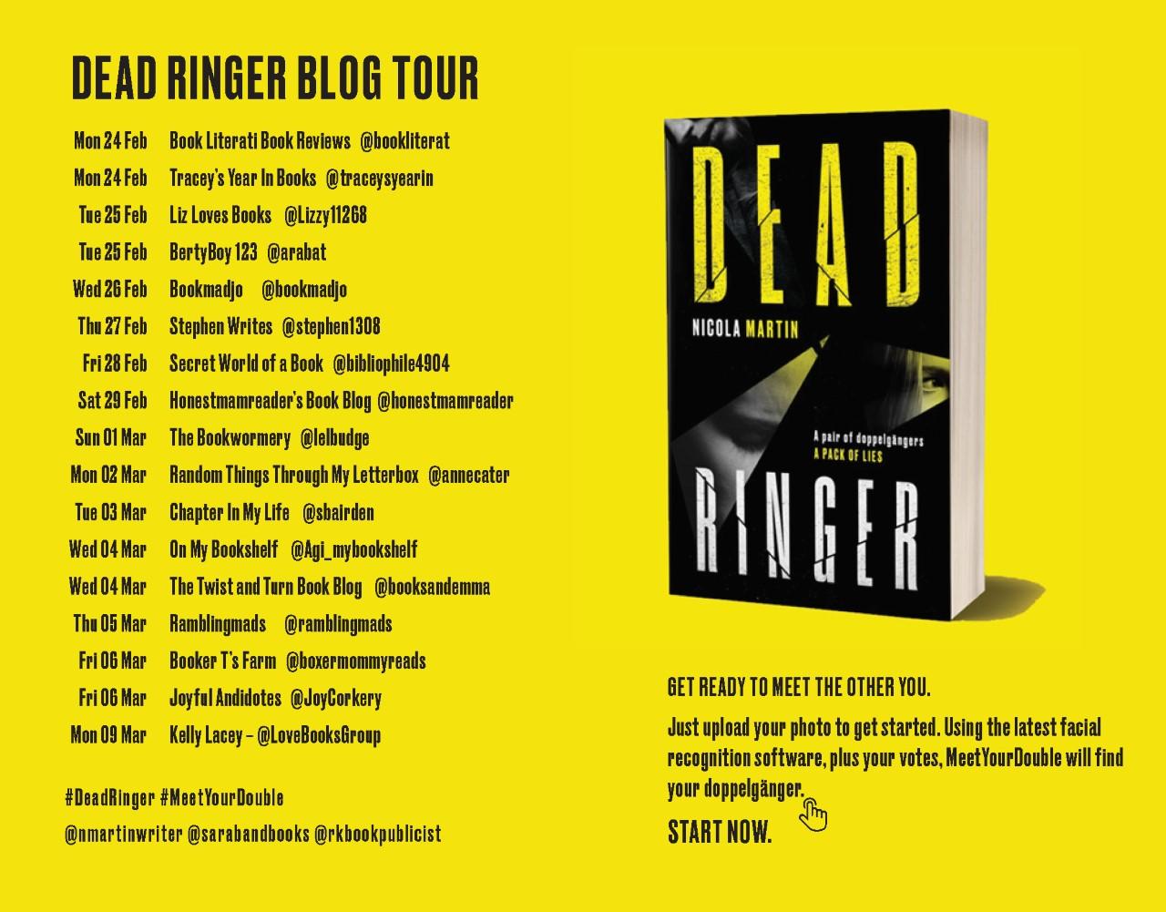 Dead Ringer blog tour